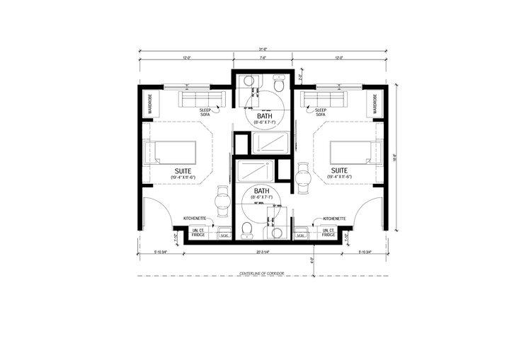 Suites of Waukee Senior Living - Bedroom Floor Plan