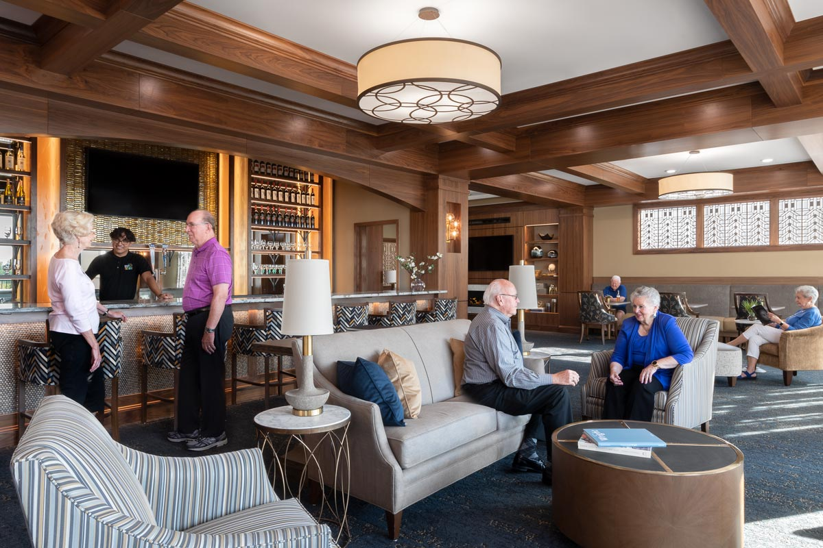 Wyndamere Senior Living Lounge with residents