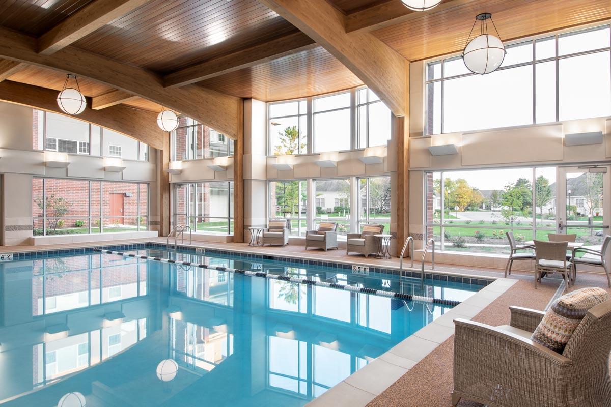 Wyndamere Senior Living Pool During Day